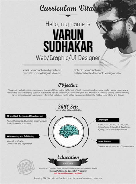 Creative Resume Designers by 30 Outstanding Resume Designs You Wish You Thought Of