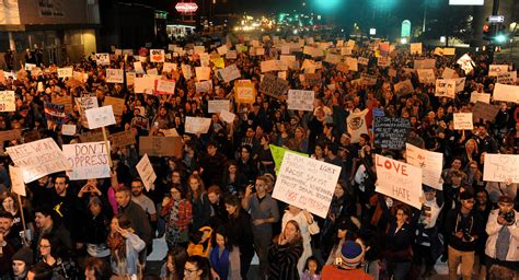 trump protest protests election denver getty across november colorado donald america politico president demonstrators elect last