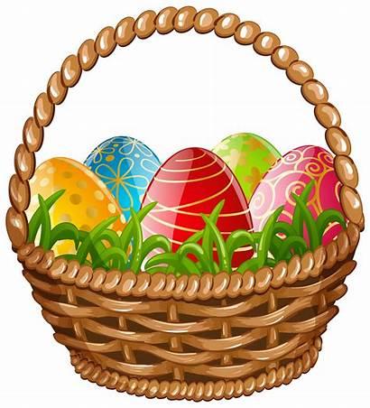 Easter Basket Egg Clip Clipart Nest Baskets