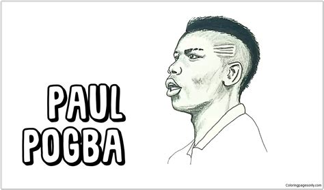 paul pogba image  coloring page  coloring pages