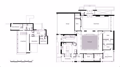 cool small house plans courtyard house plans