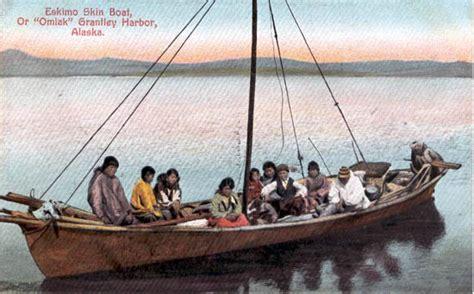 Eskimo Boat by Postcards From Alaska