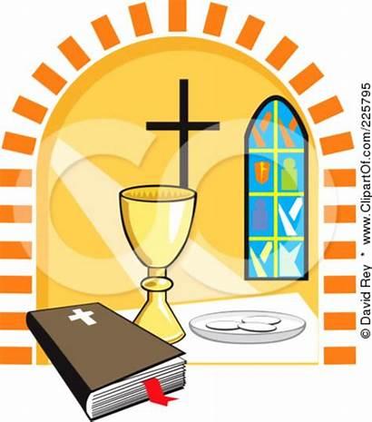 Communion Bread Wine Clipart Sunday Holy Clip