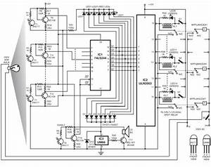electronic card lock system control circuit circuit With electronic code lock circuit diagram