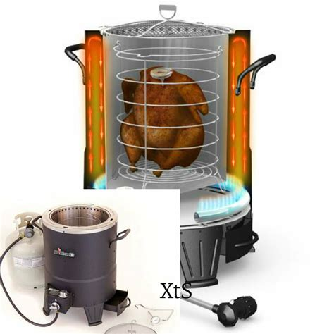 fryer deep turkey gas infrared fry portable outdoor cooking stove oilless grills fryers kitchen diy bar