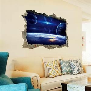 3D Star Series Floor Wall Sticker Removable Mural Decals ...