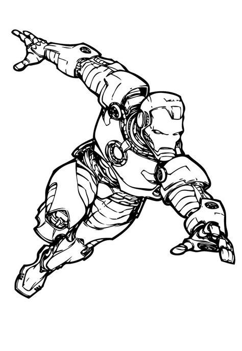 iron man marvel comics coloring page art black white