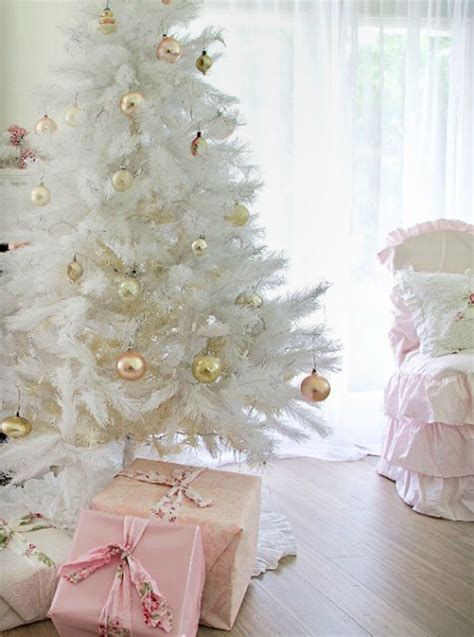 neutral  vintage white christmas tree ideas home
