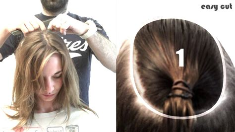 comment se faire un carre soi meme comment couper ses cheveux en carre plongeant en 5mn pro