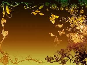 Flowers butterflies border Backgrounds Presnetation - PPT ...