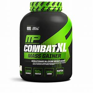 Musclepharm Combat Xl Mass Gainer Protein Powder  Vanilla  50g Protein  6 Lb