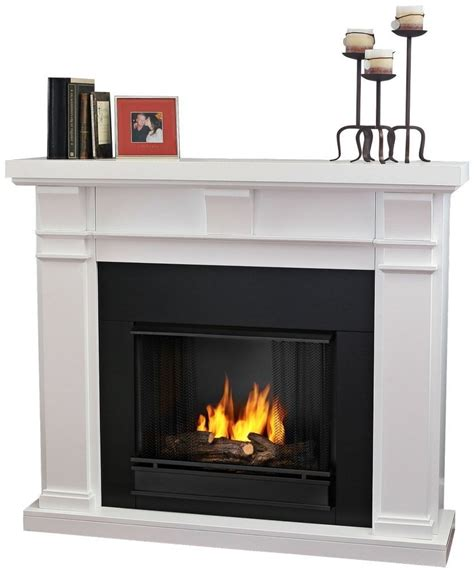 white gel fireplace  real flame ventless fireplace review