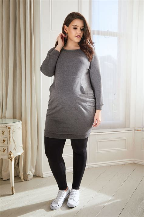 leggings maternity bump cotton elastane grey dress comfort panel plus last above zoom