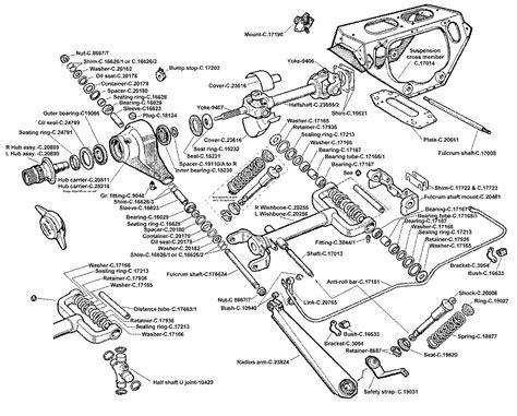 Jaguar Suspension Parts by Jaguar E Type Independent Rear Suspension Jag Irs