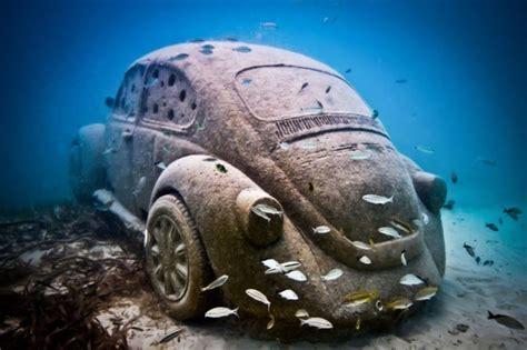 obras de arte  solo podras ver bajo el agua