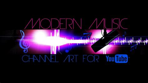 modern  channel art template  youtube photoshop