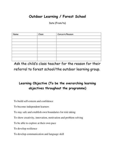 forest school outdoor learning introduction