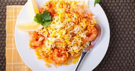 cuisine ayurveda prawn biryani recipe by niru gupta ndtv food