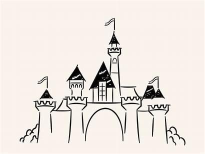 Disneyland Doodle Disney Castles Dribbble Illustration Deluxe