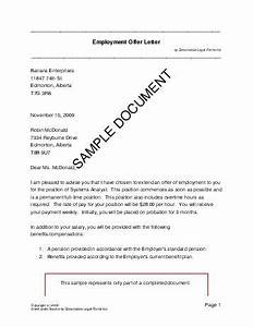 employment offer letter canada legal templates With employment offer letter template california