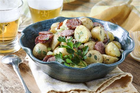 cafe lynnylu sausage potato salad gromperenzalot