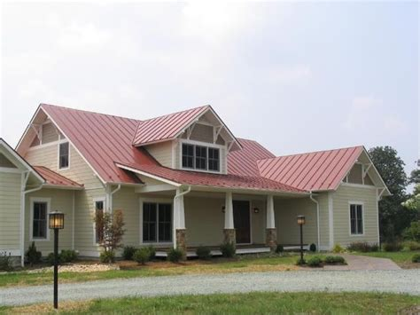 Haus Rotes Dach by Country Style Home With Metal Roof House Plans Including
