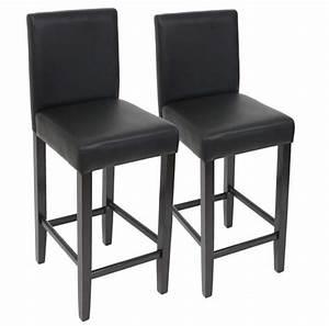 Chaise En Cuir Noir : tabouret de bar lot de 2 tabouret de bar chaise de bar en cuir pieds noir fonc ~ Teatrodelosmanantiales.com Idées de Décoration