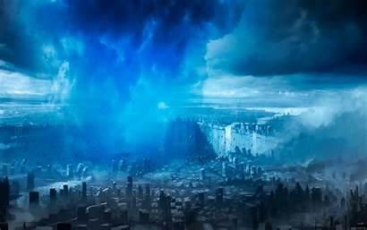 Langit Tornado Futuristic Romantically Apocalyptic Aerial Gambar