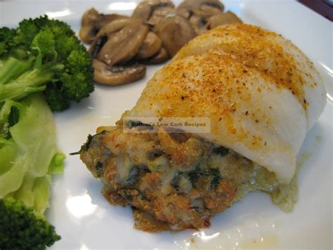 swai filets  blue crab stuffing buttonis  carb