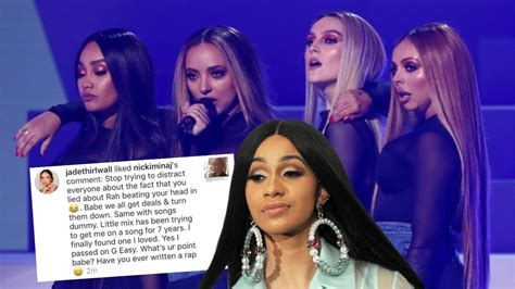cardi b woman like me little mix little mix shut down cardi b s comments about quot woman like