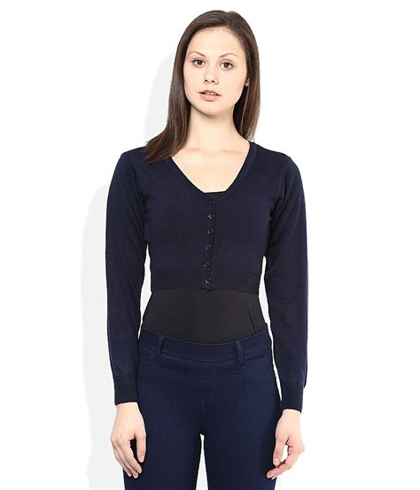 navy blouses buy monte carlo navy v neck blouses at best prices