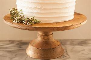 Stained, Wood, Cake, Stand