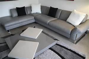 Deco Salon Blanc Et Gris : d co salon moderne noir et blanc gris ~ Zukunftsfamilie.com Idées de Décoration
