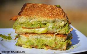 Bacon Guacamole Grilled Cheese Sandwich - Mrs Happy Homemaker