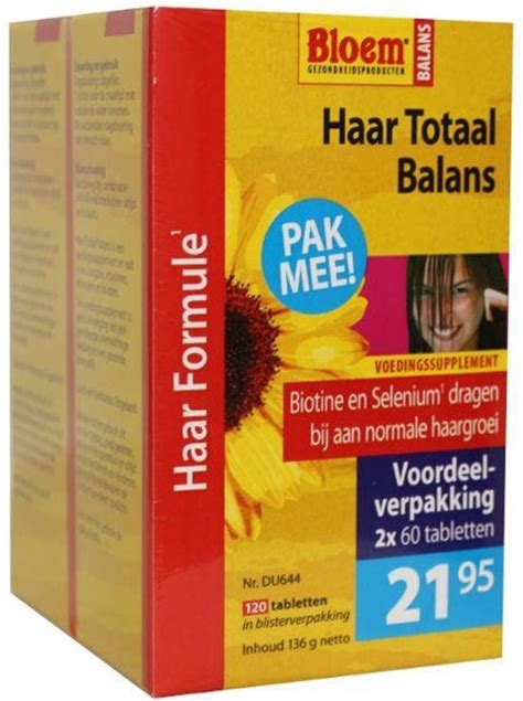 bloem haar totaal balans ingredienten bol bloem haar totaal balans duo 120 tabletten
