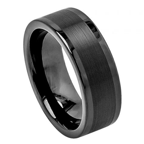 tungsten wedding band mens rings wedding rings mens