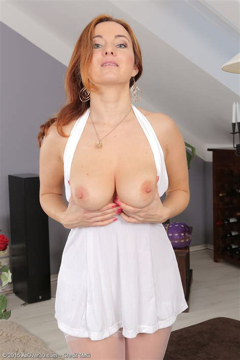 Italian Redheaded Housewife Jessica Zara Bears Her Boobs