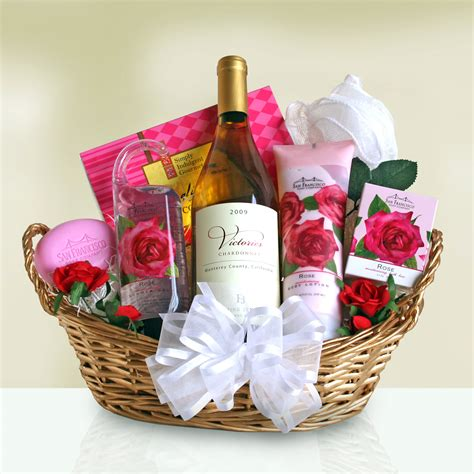 wine  roses gift basket gift baskets  occasion