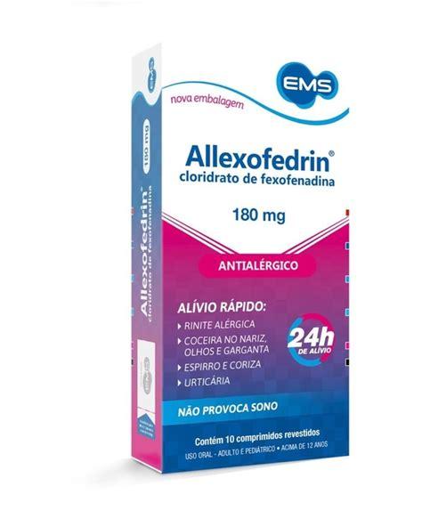 Allexofedrin 180mg 10 Comprimidos