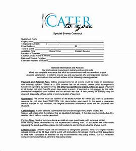 sample catering contract template prepasaintdeniscom With catering email template