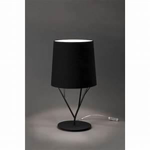 Abat Jour Design : lampe design abat jour noir luminaire design noir ~ Melissatoandfro.com Idées de Décoration
