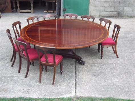 what size round table seats 10 people antique furniture warehouse huge round georgian table