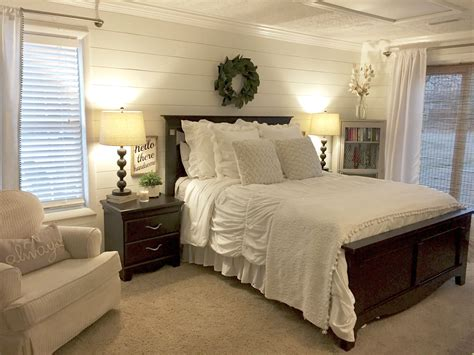 Bedroom Blue Walls White Furniture by Shiplap Bedroom Walls With Farmhouse Charm Magnolia