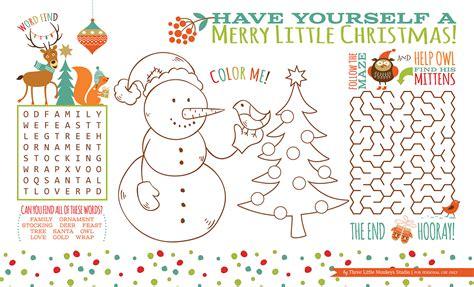 Printable Christmas Activities  Happy Holidays