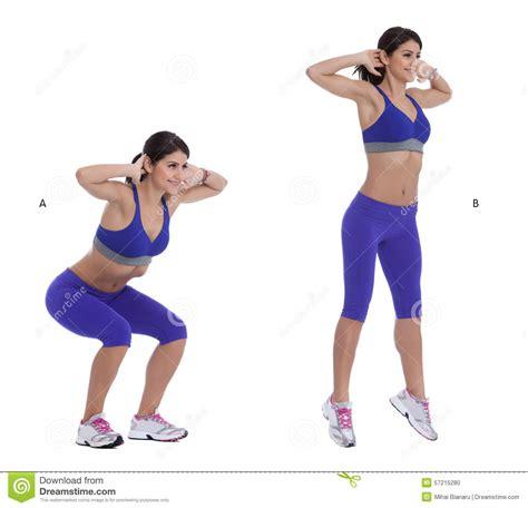 Jump Squats Stock Photo Image Of Jump, Fitness, Training