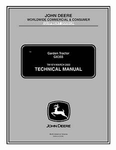 John Deere Gx355 Garden Tractor Tm1974 Technical Manual