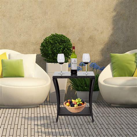 Rattan coffee tables, wicker coffee tables, garden coffee. kinbor Black Outdoor Square Wicker Rattan Side Coffee Table » Petagadget