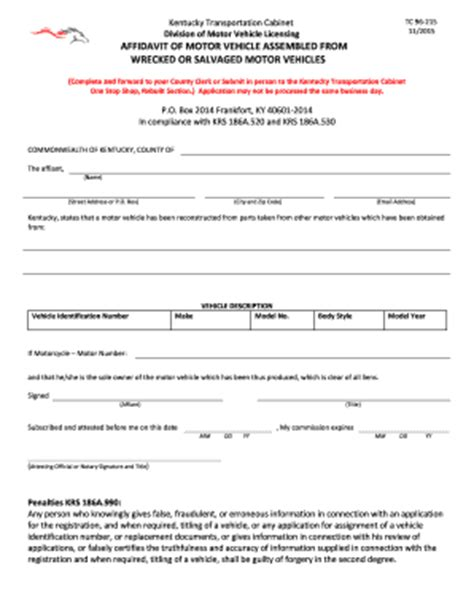 kentucky transportation cabinet forms 2014 form ky tc 96 215 fill printable fillable