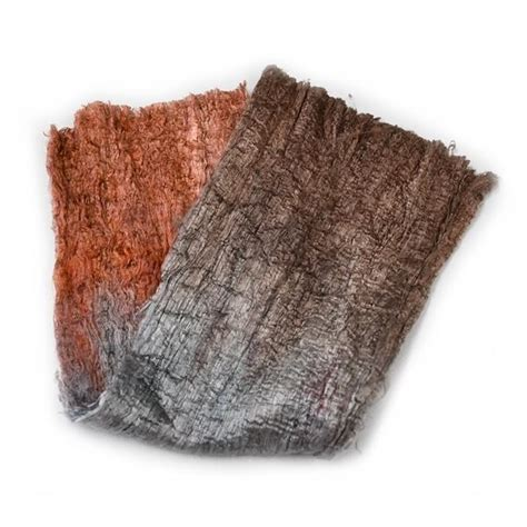 mulberry silk cocoon sheet fabric hand dyed brown grey mix