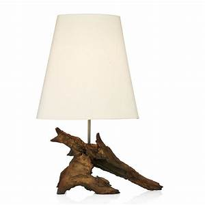 rustic natural wood effect table lamp comes with silk shade With wood effect floor lamp